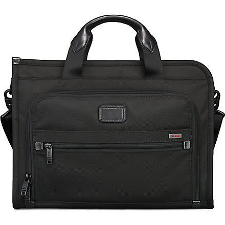 TUMI Alpha slim deluxe portfolio briefcase (Black