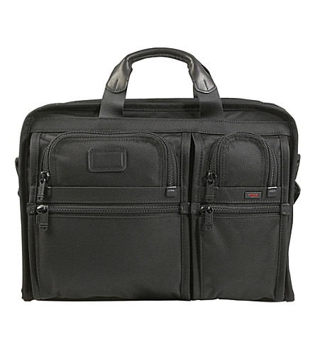 TUMI Alpha 2 compact large screen laptop briefcase (Black