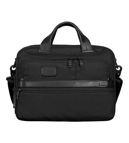 TUMI Alpha 2 small screen expandable laptop briefcase (Black