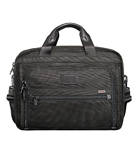 TUMI Alpha 2 organiser laptop briefcase (Black