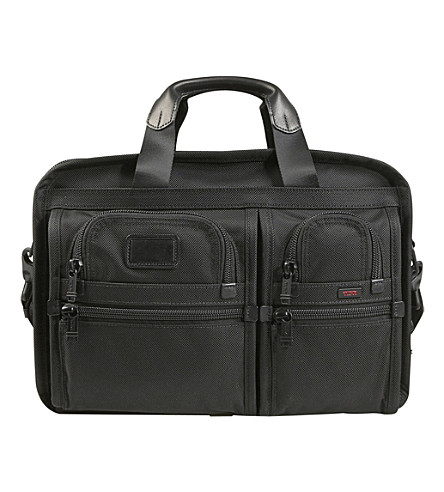 TUMI Alpha 2 expanding organiser laptop briefcase (Black