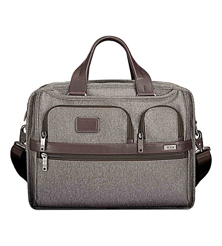 TUMI Exp organiser computer brief case (Earl+grey