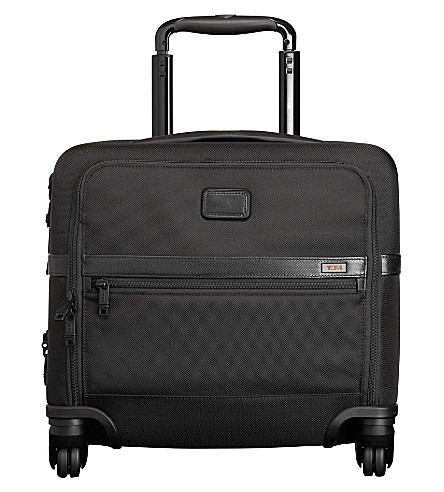 TUMI Alpha 2 4-wheeled compact brief (Black