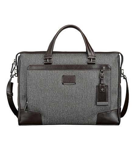 TUMI Regis slim zip-top briefcase (Earl grey