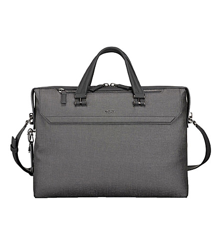 TUMI Gates slim canvas briefcase (Grey