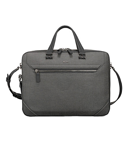 TUMI Collins canvas briefcase (Grey