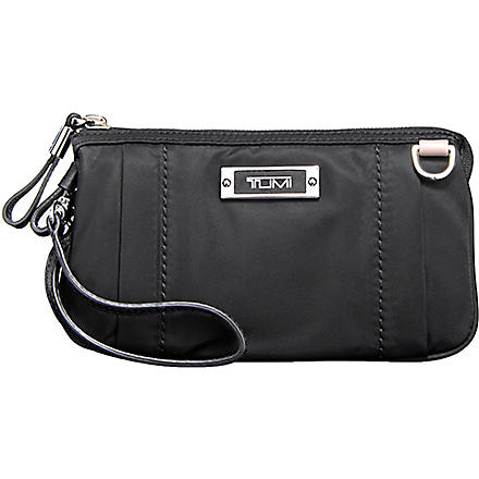 TUMI Voyageur Vienna triple compartment wristlet (Black