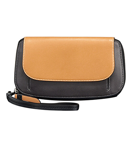 TUMI Fraser zip around continental wallet (Asphalt