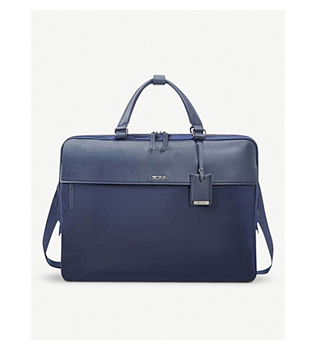 TUMI Westport slimline leather briefcase (Marine