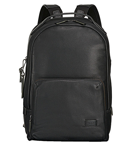 TUMI Webster leather backpack (Black