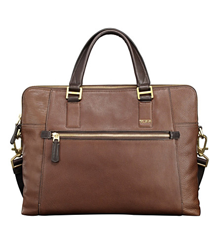 TUMI Beacon Hill Branch laptop leather briefcase (Brown