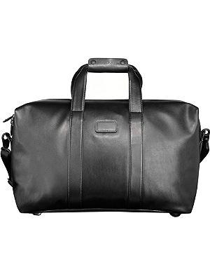 TUMI Alpha leather travel satchel