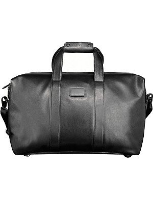 TUMI Alpha leather travel satchel
