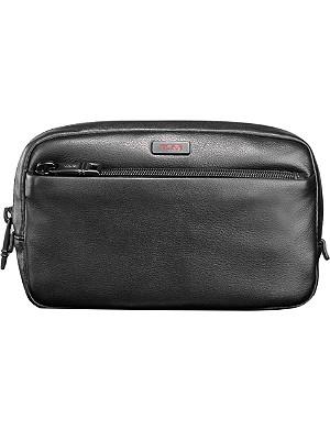 TUMI Alpha 2 leather wash bag