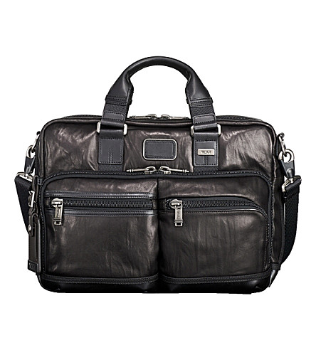 TUMI Andersen metallic leather briefcase (Black
