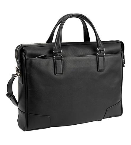TUMI Astor Regis leather briefcase (Black