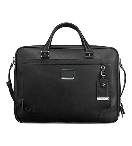 TUMI Ansonia zip-top briefcase (Black