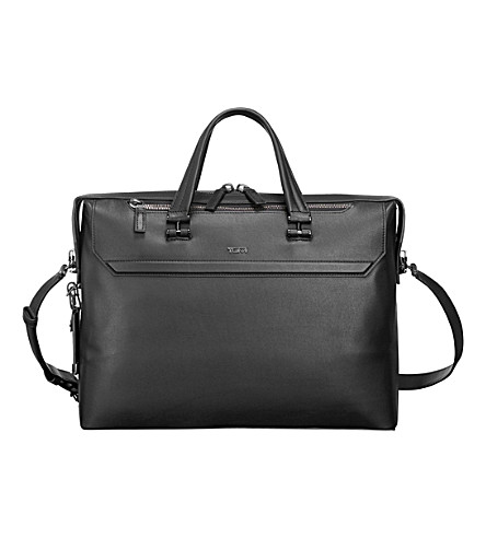 TUMI Gates slim leather briefcase (Black