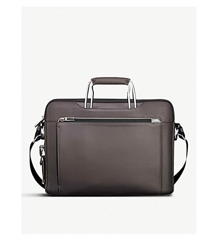 TUMI Hamilton slim leather briefcase (Taupe