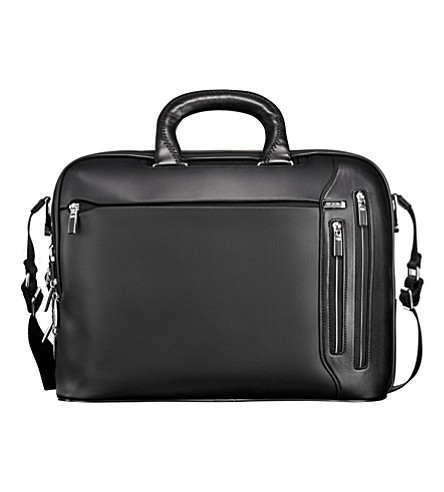 TUMI Arrivé Narita leather slim briefcase (Black