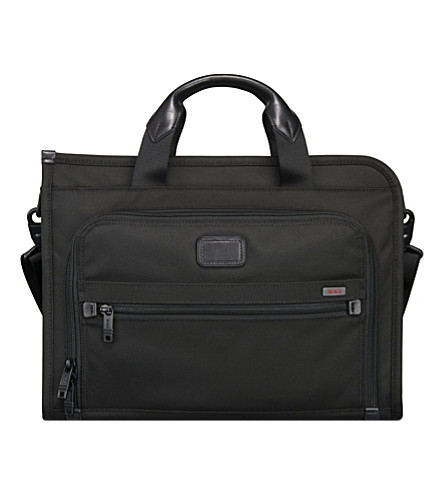 TUMI Alpha 2 deluxe leather portfolio (Black