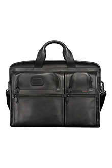 TUMI Alpha Expandable Organizer laptop leather briefcase