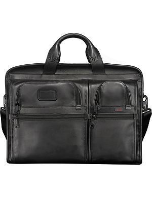TUMI Alpha Expandable Organizer laptop leather briefcase