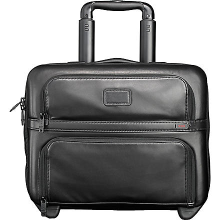 TUMI Alpha compact wheeled briefcase (Black