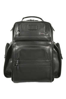TUMI Alpha Tumi T-Pass Business Class leather backpack