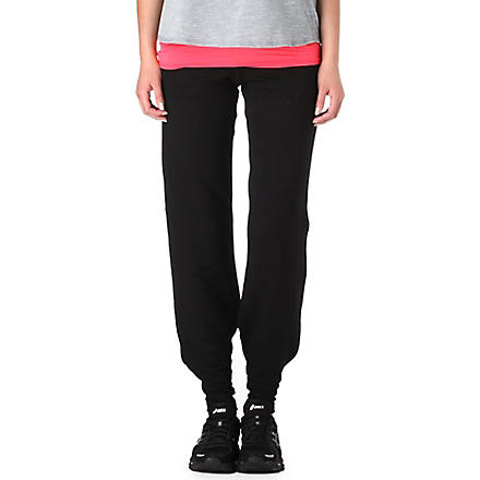 SWEATY BETTY Jersey jogging bottoms (Black