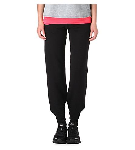 SWEATY BETTY Jersey jogging bottoms (Black