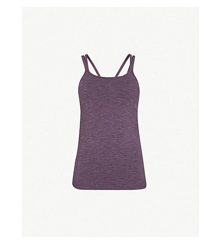 SWEATY BETTY Namaska padded stretch-jersey top (Purple