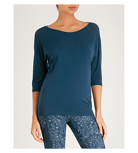 SWEATY BETTY Dharana jersey yoga top (Blue