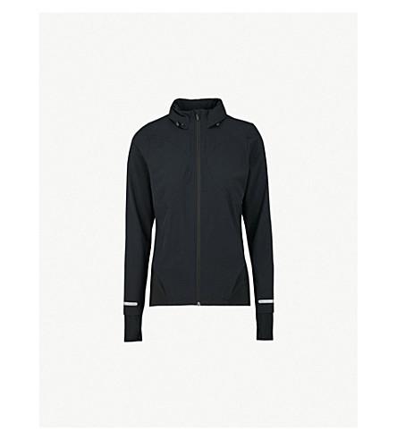 SWEATY BETTY Fast Track shell and jersey jacket (Black