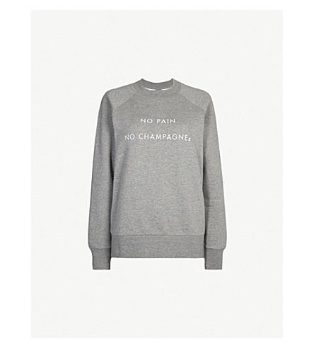 SWEATY BETTY HIIT Happens cotton-blend sweatshirt (Grey