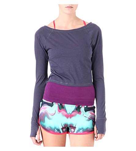 SWEATY BETTY Vitality cropped top (Moonrock