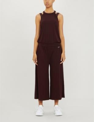 Serenity culotte stretch-jersey jumpsuit