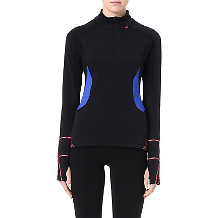 SWEATY BETTY Bodymap thermal running top (Black