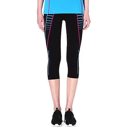 SWEATY BETTY Compression 5K Run capris (Black