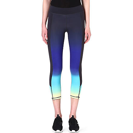 SWEATY BETTY Salabasana ombre yoga capris (Purple/anchor grey