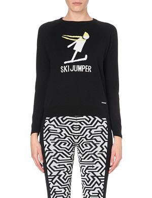 SWEATY BETTY Ski cotton and wool-blend jumper