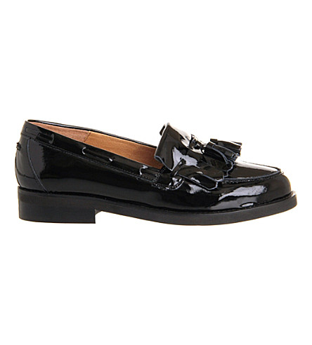 OFFICE Extravaganza leather loafers (Black+patent+leather