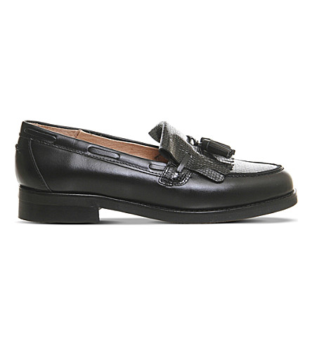 OFFICE Extravaganza lizard-effect loafers (Black+leather+lizard