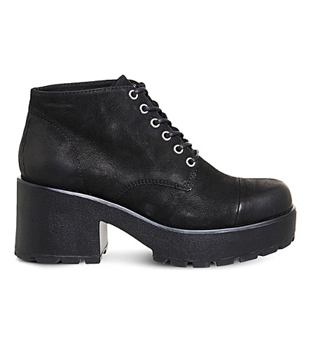 VAGABOND Dioon nubuck lace-up shoes (Black+nubuck
