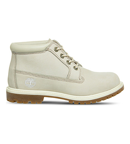 TIMBERLAND Nellie waterproof chukka leather boots (Winter+white+nubuck