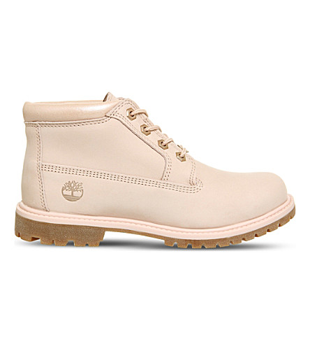 TIMBERLAND Nellie waterproof chukka leather boots (Cameo+rose+metallic