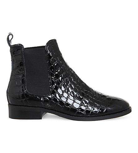 OFFICE Bramble patent-leather chelsea boots (Black patent croc