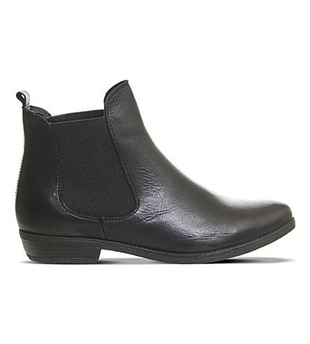 OFFICE 达拉斯 2 皮革切尔西靴子 (黑色 + 皮革