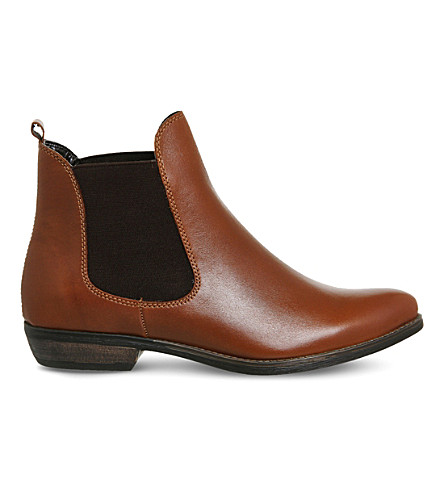OFFICE Dallas 2 leather Chelsea boots (Tan-leather