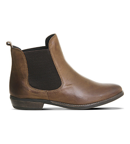 OFFICE Dallas 2 leather Chelsea boots (Brown+leather